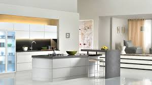 dark brown varnish wood island compact kitchen design grey full
