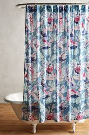 Anthropologie Ruffle Shower Curtain Painted Bird Shower Curtain Anthropologie