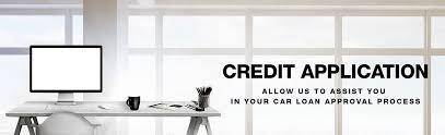 credit application van trow toyota