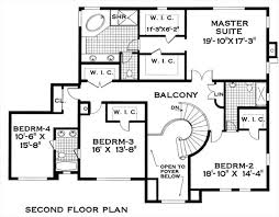 colonial floor plans colonial 8303 4 bedrooms and 3 baths the house designers