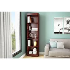 narrow wood bookcase south shore axess 5 shelf pure black bookcase 7270758 the home depot