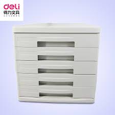 Desktop Filing Cabinet Buy Deli Stationery 9773 Five Plastic Desktop File Cabinet File