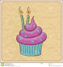 birthday cupcake sketch