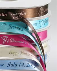 personalized ribbon for favors personalized bridal satin ribbon custom imprinted ribbon favor