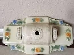 antique porcelain light fixture antique porcelain ceramic floral two bulb electric ceiling wall