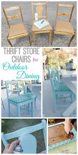 Room Store Dining Room Sets How To Turn Thrift Store Finds Into An Outdoor Dining Set