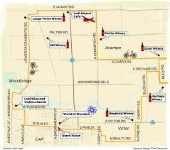 Lodi Ca Map Pedaling The Vineyards Of Lodi Sfgate