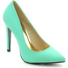blue green heels polyvore