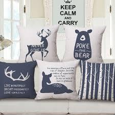 taie d oreiller pour canapé forêt nordique coussin couverture lettres antler throw taie d