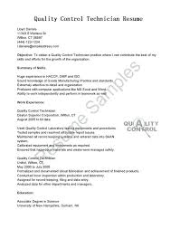 sample resume for quality control u2013 topshoppingnetwork com