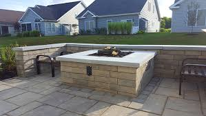 Patio Foundation Gas Firepit Patio And Foundation Plantings