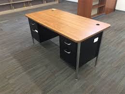 metal desk with laminate top metal desk with laminate top lot 3 for auction municibid