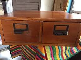 Globe Wernicke File Cabinet For Sale by Xl Globe Wernicke 2 Drawer Oak Library Index Card Catalog Ebay