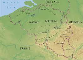 belgium in the map maps of belgium bizbilla