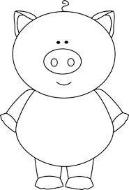 white pig clipart
