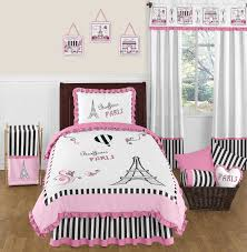 paris eiffel tower bedding for girls twin full queen comforter set