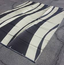 Rv Outside Rugs Outdoor Works Deluxe Brown Stripe Rv Patio U0026 Camp Mat Rv Patio