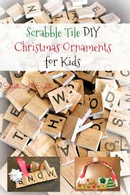 scrabble tile diy christmas ornaments for kids startsateight