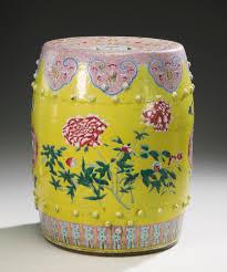 a famille rose garden seat u003cbr u003eqing dynasty 19th century lot
