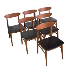 6 Black Dining Chairs Set Of Four Teak Dining Chairs By Niels Møller Vintage