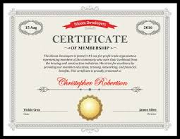 diploma samples certificates 5 certificate of membership templates free download