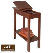 Storage End Tables For Living Room Chairside Storage Table 11