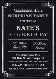 surprise 60th birthday invitation chalkboard surprise by arthomer