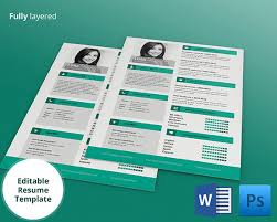 editable resume template free psd resume template 51 free sles exles format download