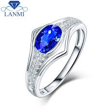 women s engagement rings charming oval sapphire women s wedding rings in 14kt white