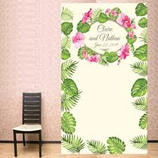 Personalized Photo Backdrop Tropical Palm Personalized Photo Backdrop Photo Booth Backdrops