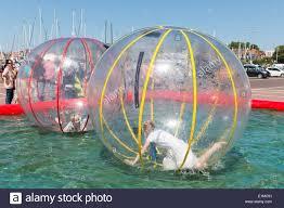 big plastic balloons urk the netherlands may 31 children inside big