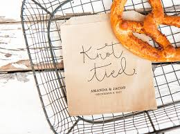 pretzel bags for favors soft pretzel wedding favor bags personalized favor knot