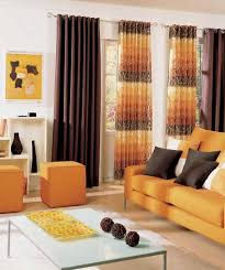 Orange Curtains For Living Room 10 Bright Living Room In Orange Decor Advisor