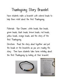 thanksgiving story bracelet school days thanksgiving