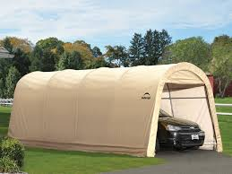 exterior simple small costco carport in beige color design for
