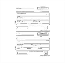 Rental Receipt Template Excel Rent Receipt Template 9 Free Word Excel Pdf Format