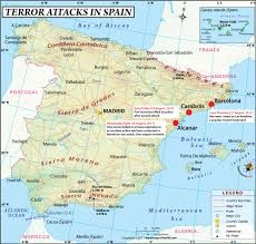 Map Of Barcelona Traces Of Powerful Explosive Tatp Found At Alcanar Bomb Factory Of
