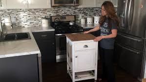 Build A Kitchen Island Video Video Tutorial How To Build A Kitchen Island Cart With Ana