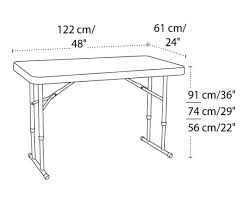 foldable table adjustable height 80160 lifetime 4ft adjustable folding table competitive edge products