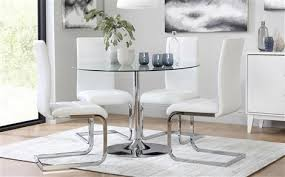 Circle Glass Table And Chairs Glass Dining Sets Furniture Choice