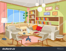 interior of a home vector illustration cozy cartoon interior home stock vector