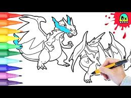 pokemon coloring mega charizard coloring book pages