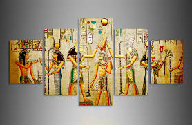ancient egyptian home decor canvas painting 5pcs abstract ancient egyptian decorative oil