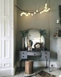 Vanity Table With Lighted Mirror Diy by Diy Hanging Branch Light Fairy Stylish And Cotton