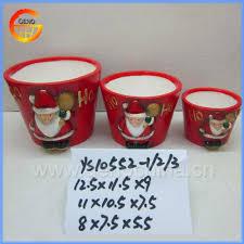 red christmas ceramic flower pot painting designs buy ceramic