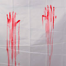 Zoological Shower Curtain by Bloody Handprint Shower Curtain Part 17 Superior Scary