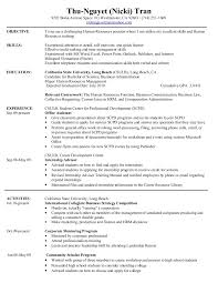 Examples Of A College Resume by Hr Resume