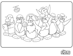 colouring pages fin1002 u0027s club penguin blog