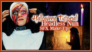 headless halloween halloween sfx makeup tutorial headless nun u2013 in a secret