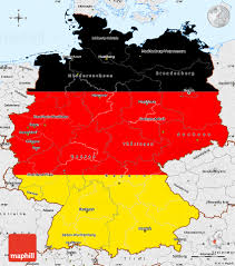 Map Of Cologne Germany by Flag Simple Map Of Germany Single Color Outside Borders And Labels